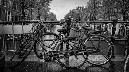 Bicycle Parking Canal Bridge