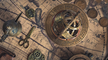 Sundial With A Zodiac Sign