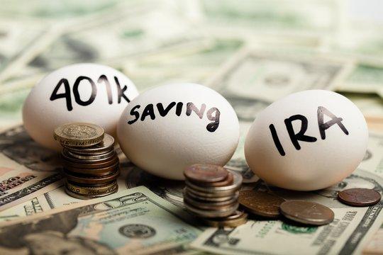 Start Thinking About Your Retirement - Nest Eggs On Dollar Bills