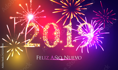 new years 2019 spanish version happy new year greeting card 2019 happy new year
