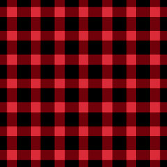 Checkered black and red seamless patterns. Vector Fashion backgrounds.