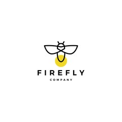 firefly logo vector icon illustration design inspirations