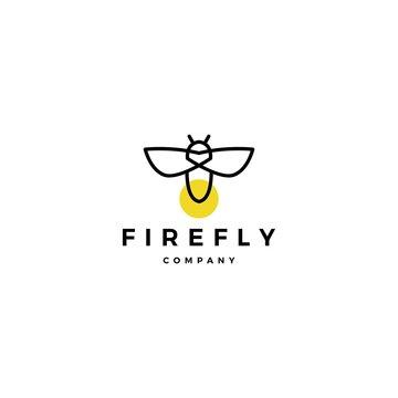 firefly logo vector icon illustration design inspirations