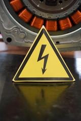 Warnung Schild Strom