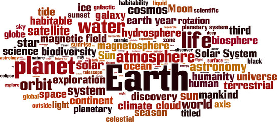 Earth word cloud