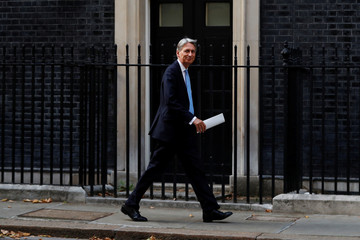 Chancellor of the Exchequer Philip Hammond arrives in Downing Street in London