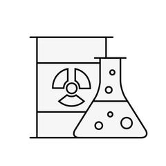 chemistry hazard test tube barrel radiation