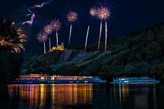 Feuerwerk über der Mosel