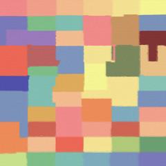original oil geometric painting on canvas : digital art