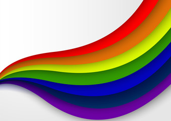 LGBT sign and symbol rainbow color background vector, Freedom for love of Lesbian, Gay, Bisexual,  and transgender concept