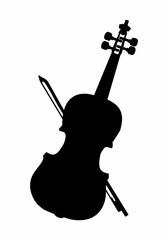 Violin dark silhouette