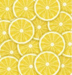 Lemons cutted background. Vector illustration