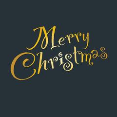 """Handwritten text """"Merry Christmas"""""""