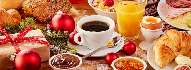 Tasty fresh Christmas Intercontinental breakfast