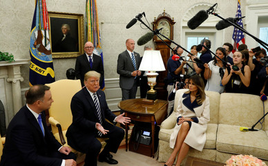 U.S. President Trump meets with Poland's President Duda at the White House in Washington