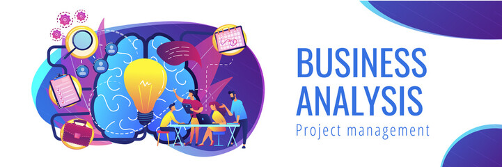 Project management concept header banner.