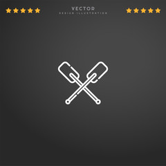 Premium Symbol of Paddles Related Vector Line Icon Isolated on Gradient Background. Modern simple flat symbol for web site design, logo, app, UI. Editable Stroke. Pixel Perfect.