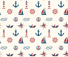 seamless sea pattern, child