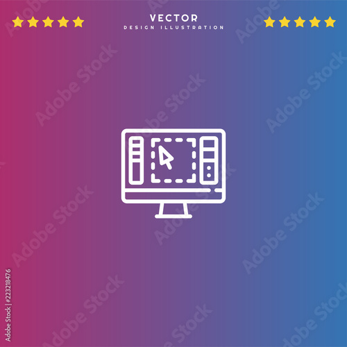 Premium Symbol of Graphics Editor Related Vector Line Icon Isolated