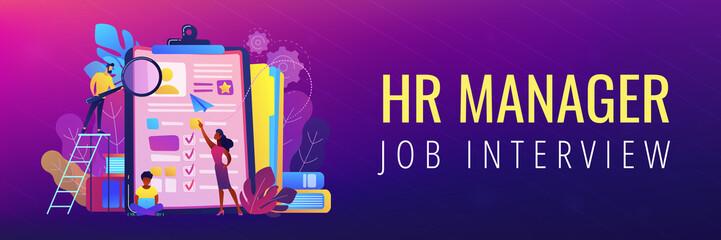 Job interview header or footer banner.