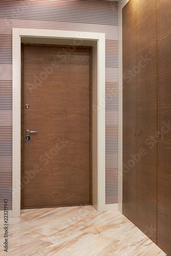 Wooden Interior Doors Of High Quality Interior Design Stock Photo