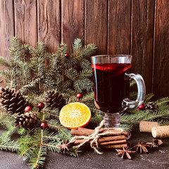 Mulled red wine composition