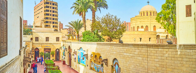The view on the Coptic district in Cairo, Egypt Papier Peint