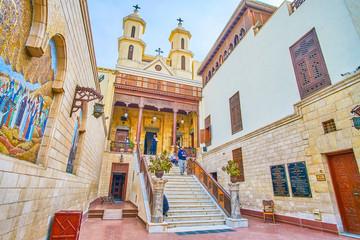 The main landmark in Coptic district in Cairo, Egypt Papier Peint