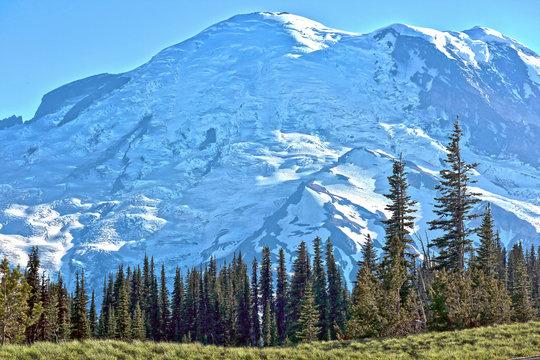 Mount Rainier glaciers
