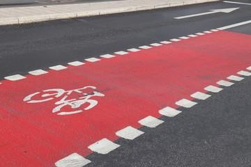 Bicycle lane, Stockholm