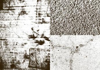 Conjunto de superposiciones de texturas urbanas