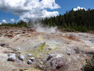 Fumaroles in Yellowstone National Park, USA