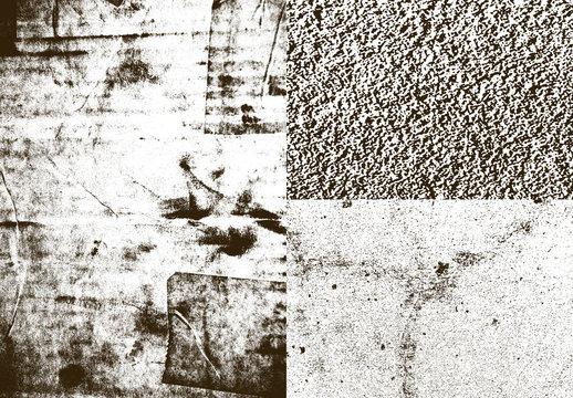 Insieme di sovrapposizioni di texture urbane