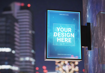 Vertical Store Sign Mockup