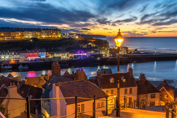 199 Steps Whitby, North Yorkshire, UK at Sunset