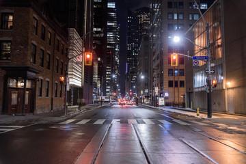 Night view of the street of Toronto Fotobehang