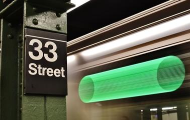 New York Subway Station MTA Train Platform