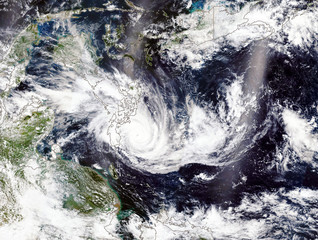 Super Typhoon in The Philippines. Elements of this image furnished by NASA