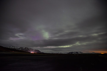 The Northern Lights light up the night sky in Iceland