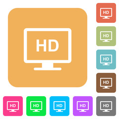 HD display rounded square flat icons