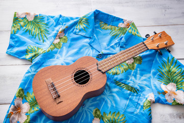 ulkulele and hawaiian shirts