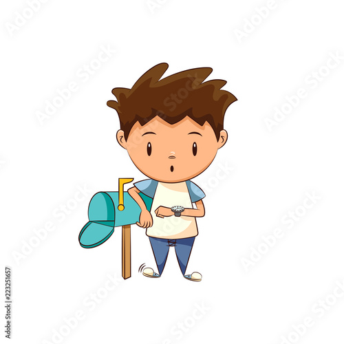 Waiting For Mail >> Child Waiting Mail Stock Image And Royalty Free Vector Files On
