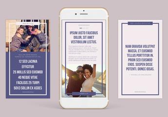 Conjunto de historias compatibles con Instagram en tonos atractivos
