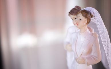 Cake topper lesbian wedding couple