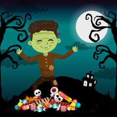 Kid and halloween
