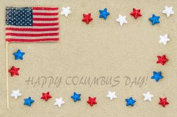 Happy Columbus Day (USA) background