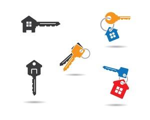 House key symbol illustration