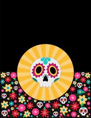 Sugar skull day of the dead mexican design