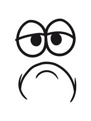 augen mund gesicht lustig comic cartoon clipart kopf traurig müde unglücklich cool design