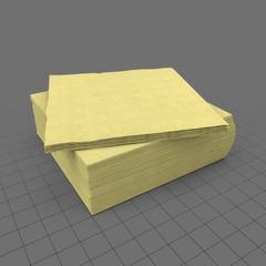 Paper napkin pile